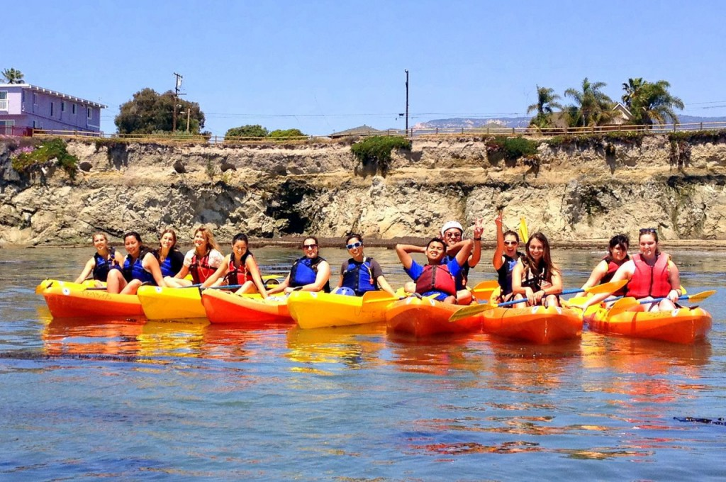 kayaking with Costal Fund